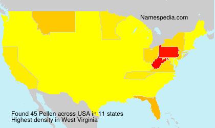 Familiennamen Pellen - USA