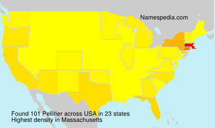 Surname Pellitier in USA