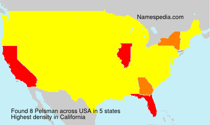 Surname Pelsman in USA