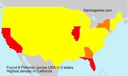 Surname Pelsman in USA