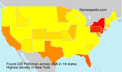 Surname Peltzman in USA