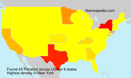 Surname Penafort in USA