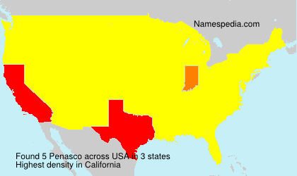 Surname Penasco in USA