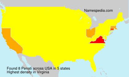 Surname Penati in USA