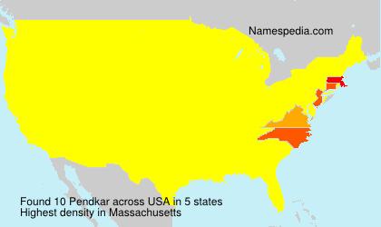 Familiennamen Pendkar - USA