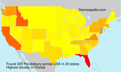 Surname Pendlebury in USA