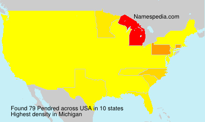 Surname Pendred in USA