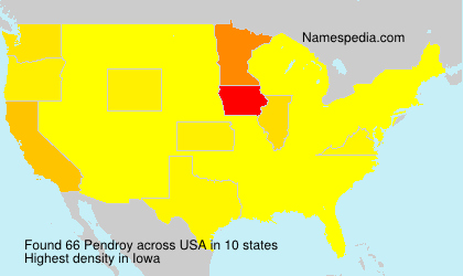 Surname Pendroy in USA