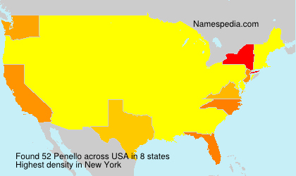 Surname Penello in USA