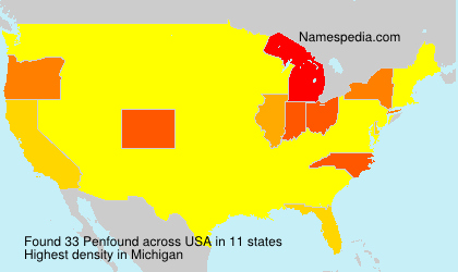 Surname Penfound in USA