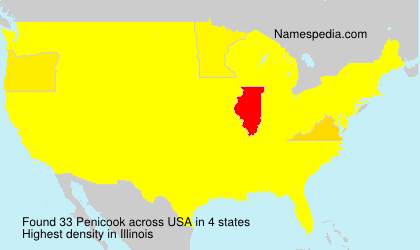 Surname Penicook in USA