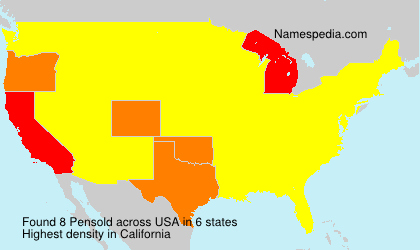 Surname Pensold in USA
