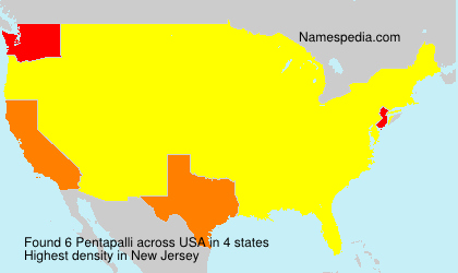 Surname Pentapalli in USA