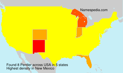Surname Pentler in USA