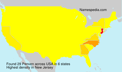 Surname Penven in USA