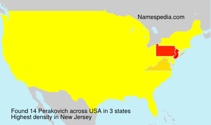 Surname Perakovich in USA