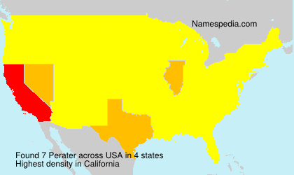 Familiennamen Perater - USA