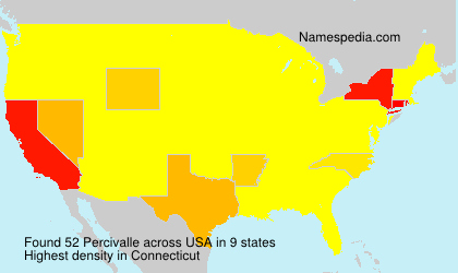 Surname Percivalle in USA