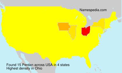Familiennamen Perdan - USA
