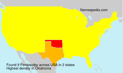 Surname Perdasofpy in USA