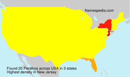 Surname Perdikos in USA
