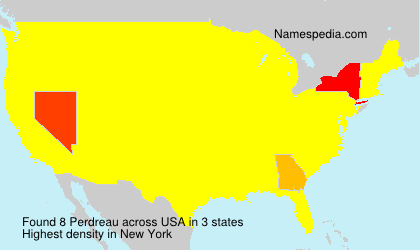Surname Perdreau in USA