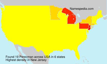 Surname Perecman in USA
