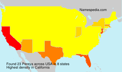Surname Pereya in USA