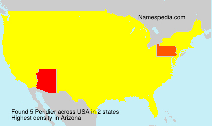 Surname Peridier in USA