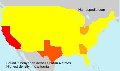 Surname Periyanan in USA