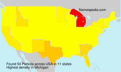Surname Perkola in USA