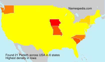 Familiennamen Perleth - USA