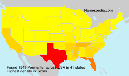 Surname Permenter in USA