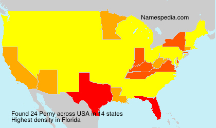 Surname Perny in USA