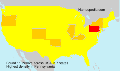 Surname Perove in USA