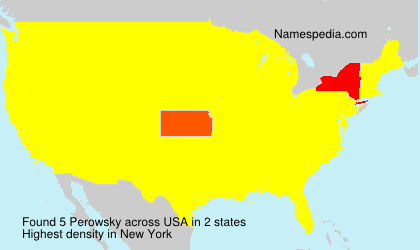 Surname Perowsky in USA