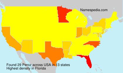 Familiennamen Peroz - USA
