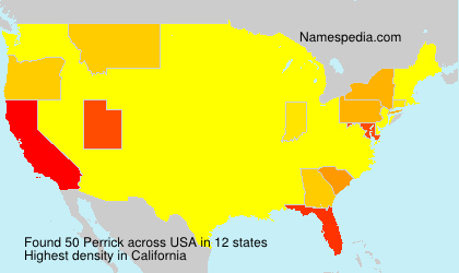 Surname Perrick in USA