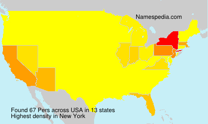 Surname Pers in USA