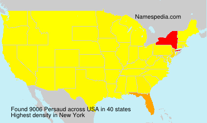 Surname Persaud in USA