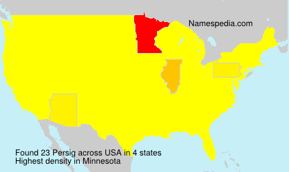 Surname Persig in USA