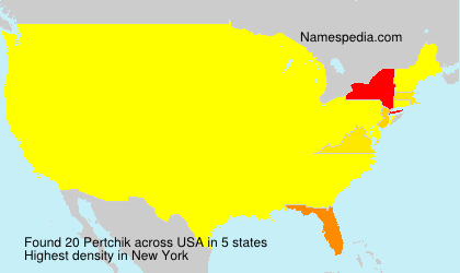 Surname Pertchik in USA