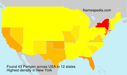 Surname Pertgen in USA