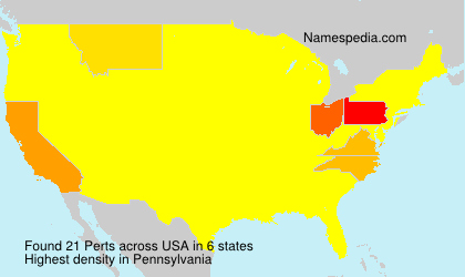 Surname Perts in USA