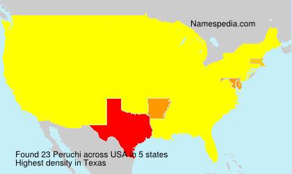 Surname Peruchi in USA