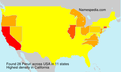 Surname Peruri in USA