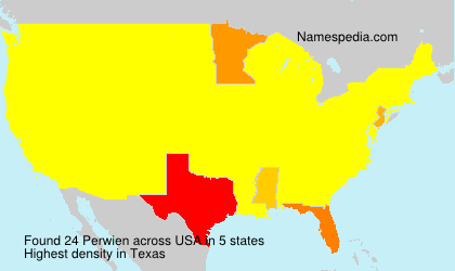 Surname Perwien in USA