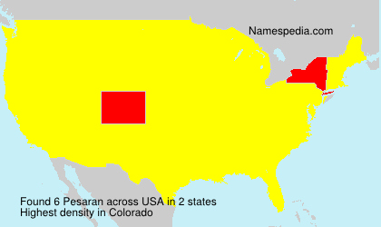 Surname Pesaran in USA