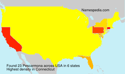 Surname Pescarmona in USA