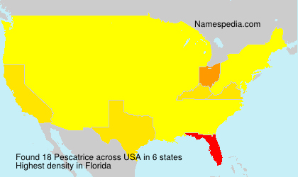 Surname Pescatrice in USA